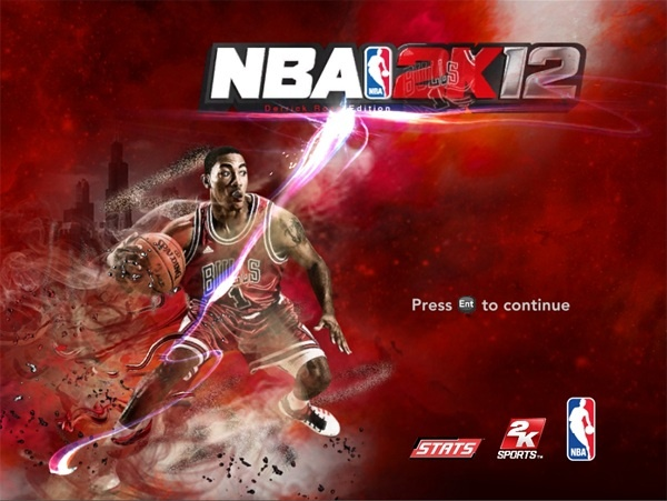 NBA 2K12 Стартовая картинка Деррик Роуз,картинка, стартовый, nba2k13, тон,